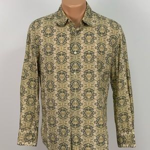 John Varvatos Floral Button Down Shirt